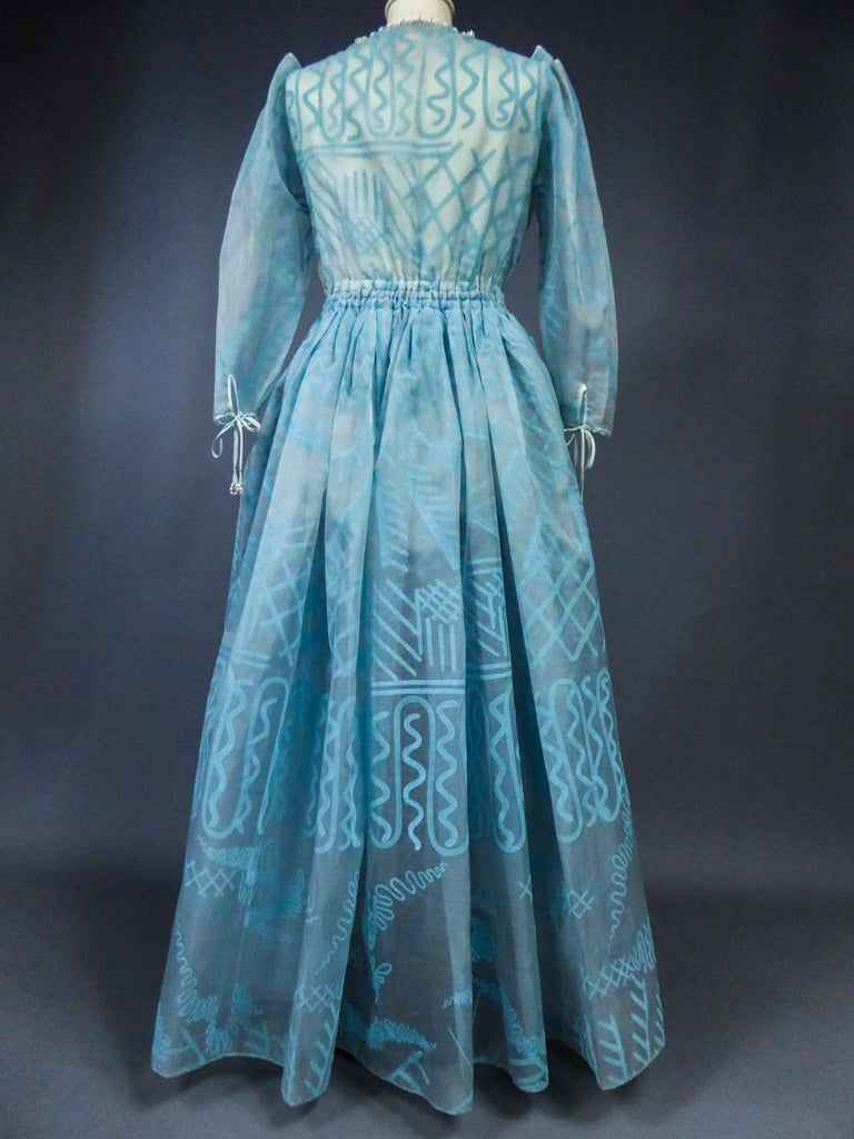 A Zandra Rhodes Evening Dress in Printed Organza - Fortuny Influence- Circa 1980 For Sale 13