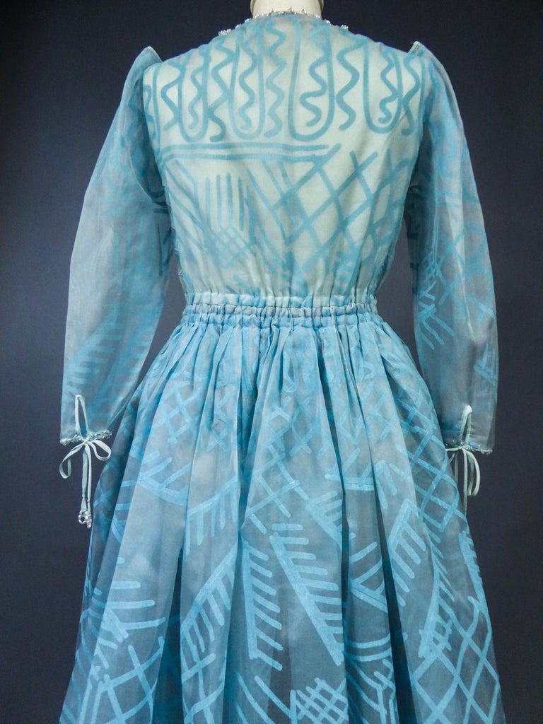 A Zandra Rhodes Evening Dress in Printed Organza - Fortuny Influence- Circa 1980 For Sale 14