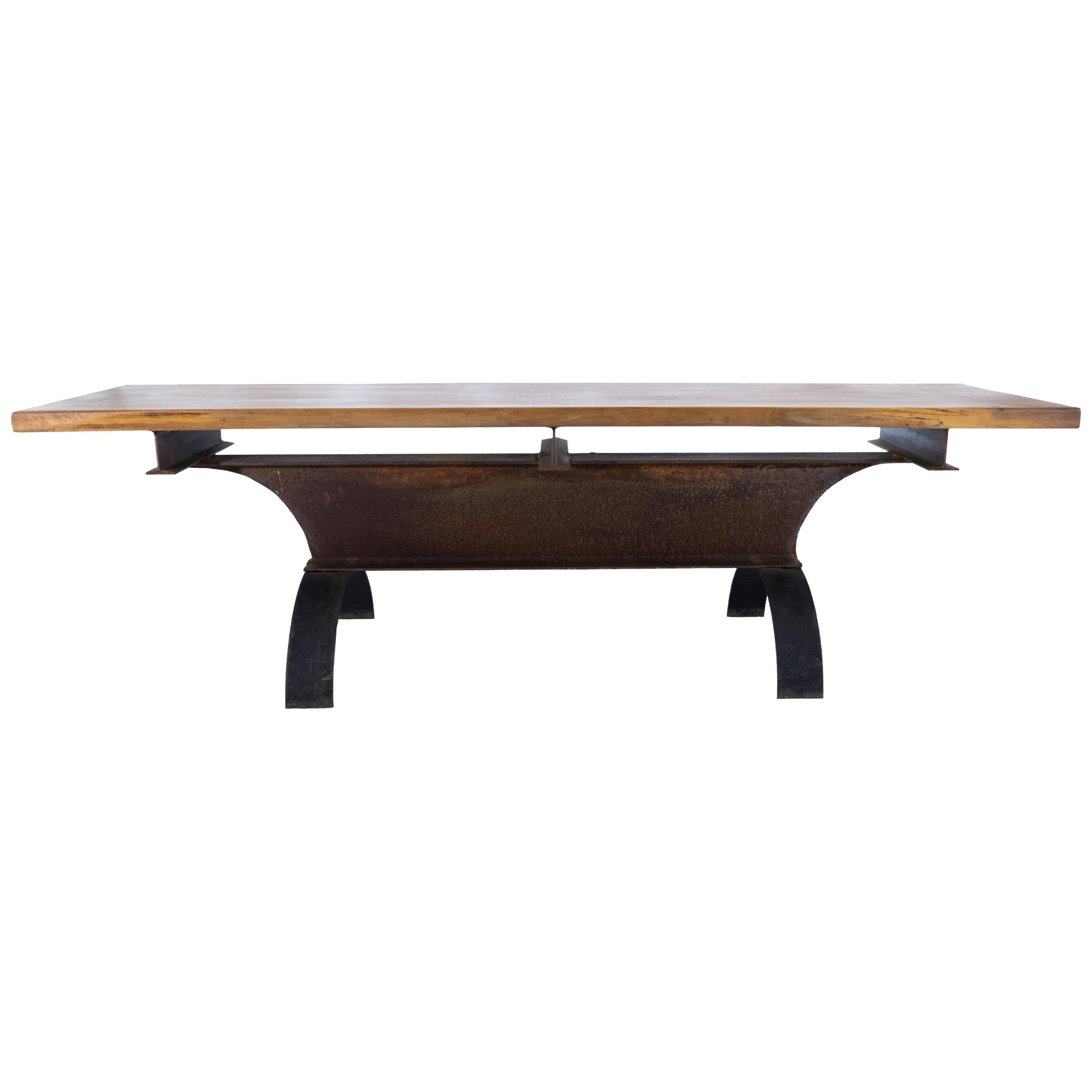 A1 Walnut and Steel Table, by Edelman New York