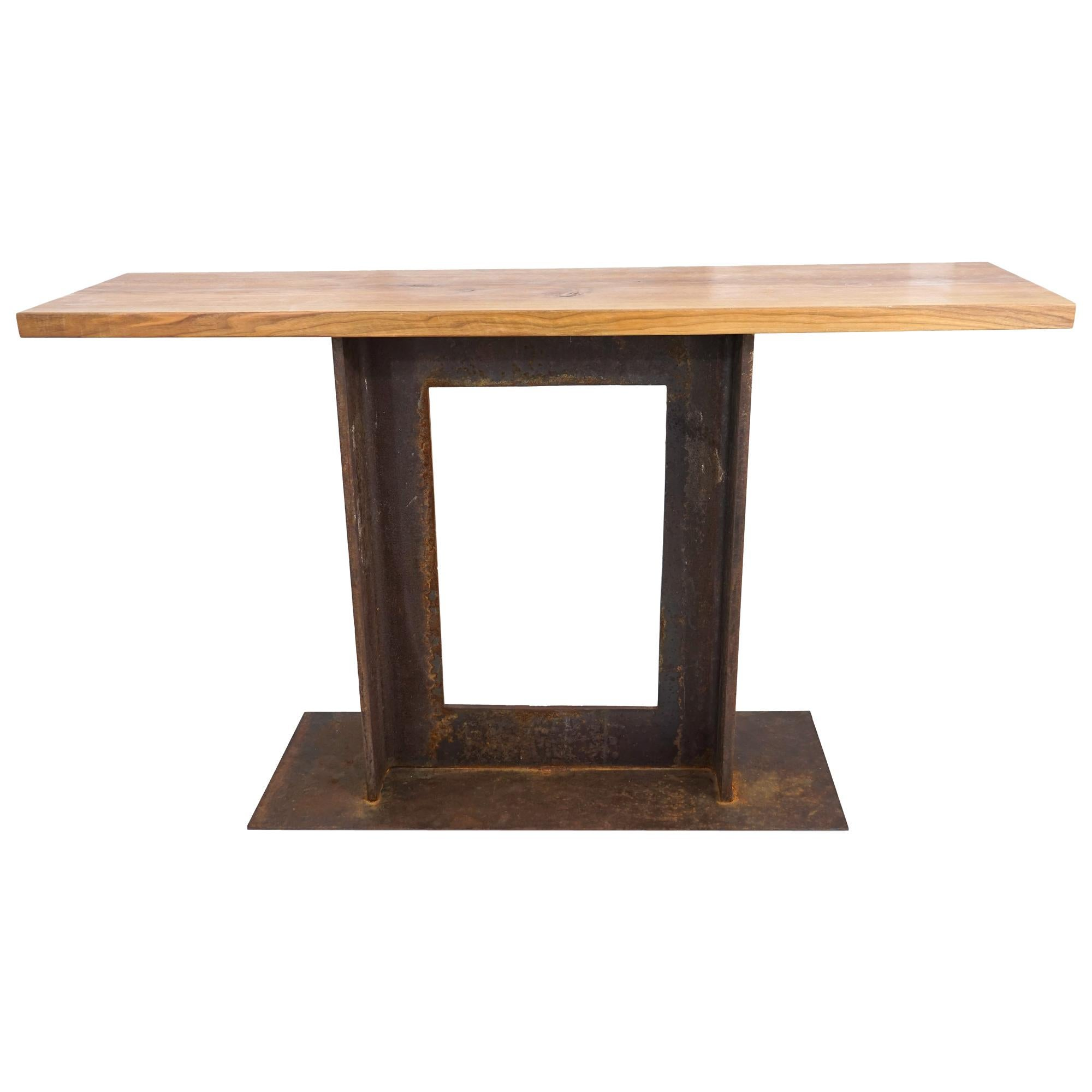 A2 Walnut and Steel Table, by Edelman New York