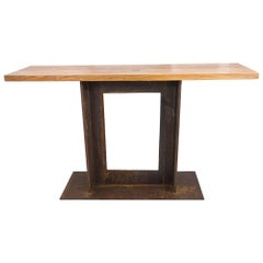 A2 Walnut and Steel Table by Edelman New York