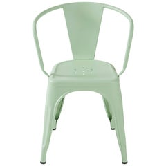 A56 Armchair in Anise Green by Jean Pauchard & Tolix