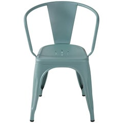 A56 Armchair in Sage Green by Jean Pauchard & Tolix