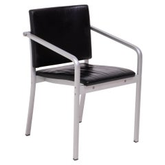 A901 PF Aluminum and Leather Dining Chairs by Norman Foster for Thonet, 1999