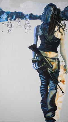 Woman with gun special