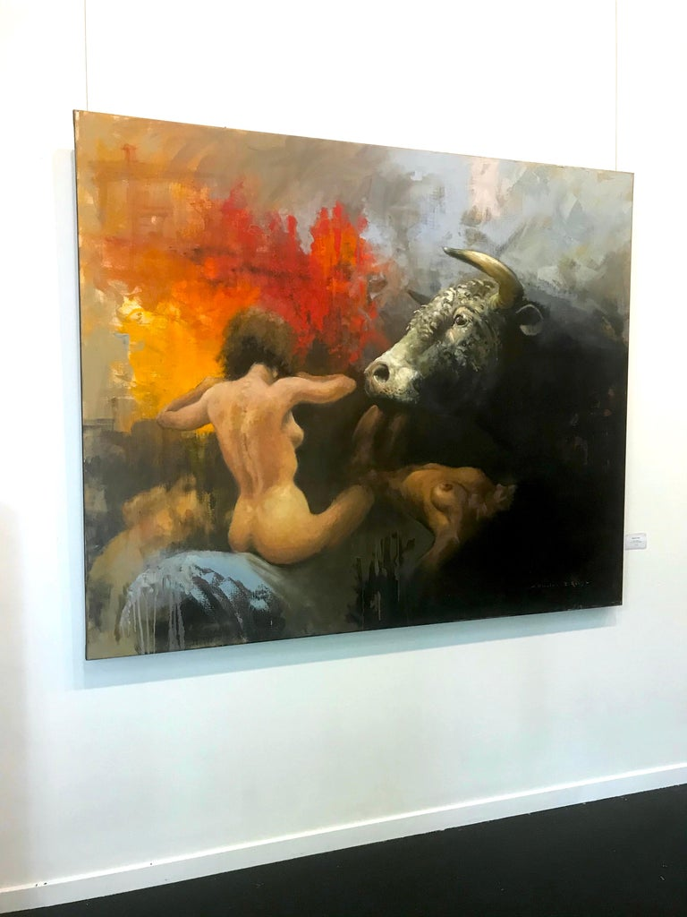 'Black Europa' - Expressionist Painting by William E Rees