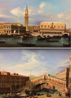 Pair of Paintings with Venetian Landscape 1940