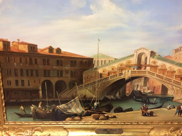 Pair of Paintings with Venetian Landscape 1940 For Sale 1