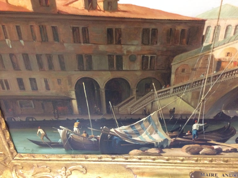 Pair of Paintings with Venetian Landscape 1940 For Sale 4