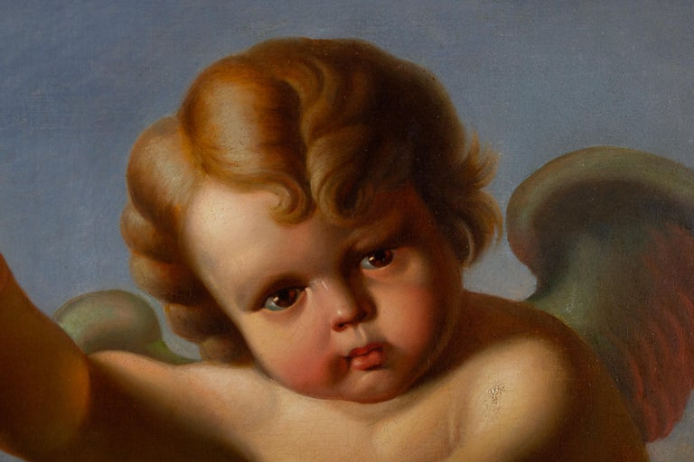 VANITAS with Cupid  Oil on Canvas 1856 3