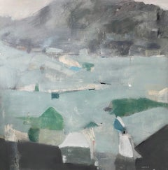 In the Valley (Lithgow) - Abstract Landscape by Jane Canfield