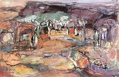 Boabs at Cockburn Range - Abstract Landscape by Barbara Goldin