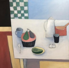 Pears and Avocado - Still Life Painting by Mary Donnelly