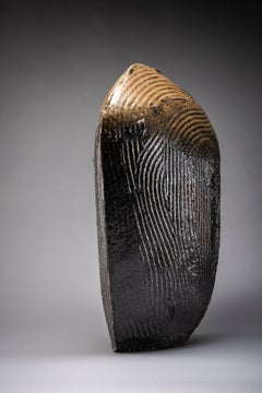 Runnels I - manganese clay, shino glaze.