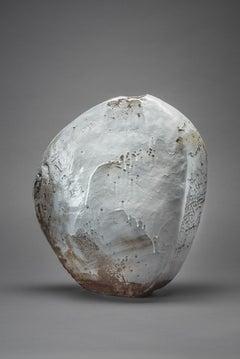 Ice Scape I - manganese/ iron stoneware with porcelain brushwork