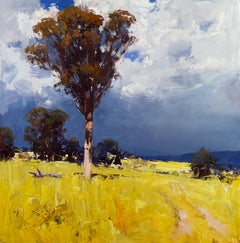 Approaching Storm - Canola Fields, Harden