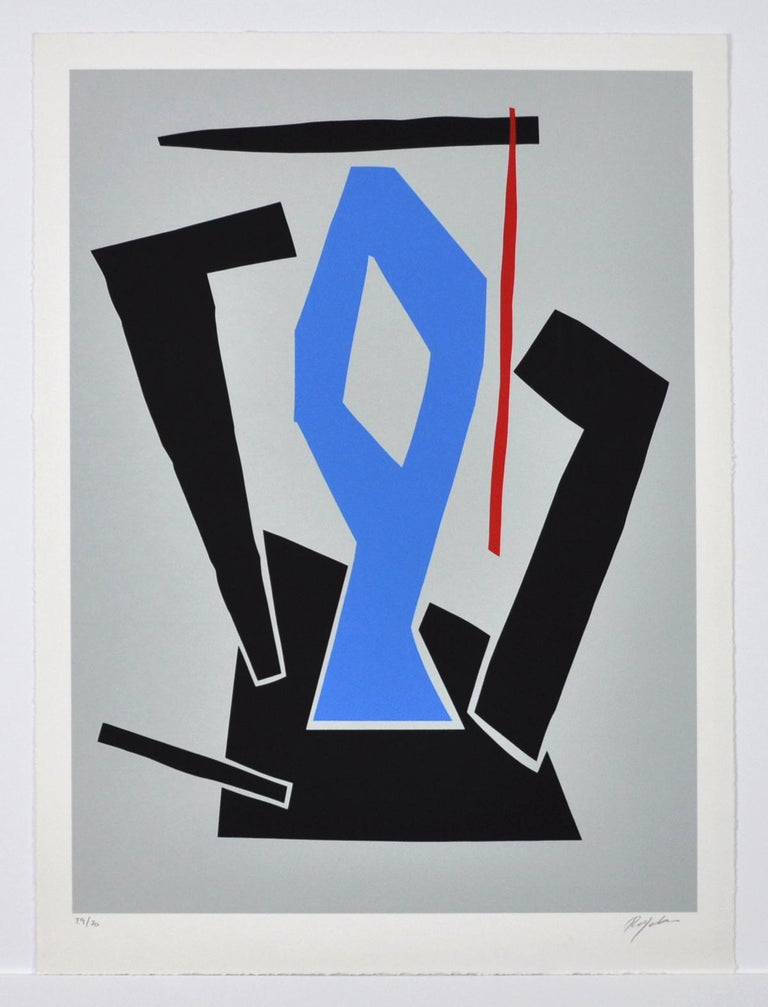 Serigraphy by Robert Jacobsen, Untitled, 1987 Numbered and signed. 