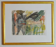 Per Kirkeby, Watercolour 1980, Signed
