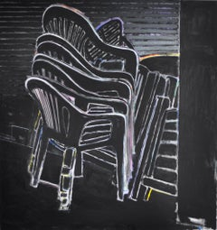 Contemporary Neo-Expressionistic Painting - Eclipse of the Chairs I