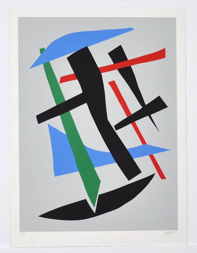 Serigraphy by Robert Jacobsen, Untitled, late 1980s Numbered 30/70, signed. 