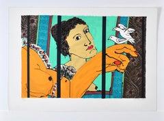 Serigraphy by Lars Ravn, Untitled, 1994