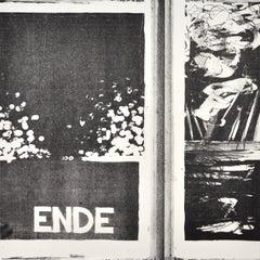 """Scandinavian Lithograph """"Ende"""", Numbered and signed"""