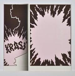 """KRASJ (blitz)"", Screen Print by Claus Handgaard Jørgensen, 2006"