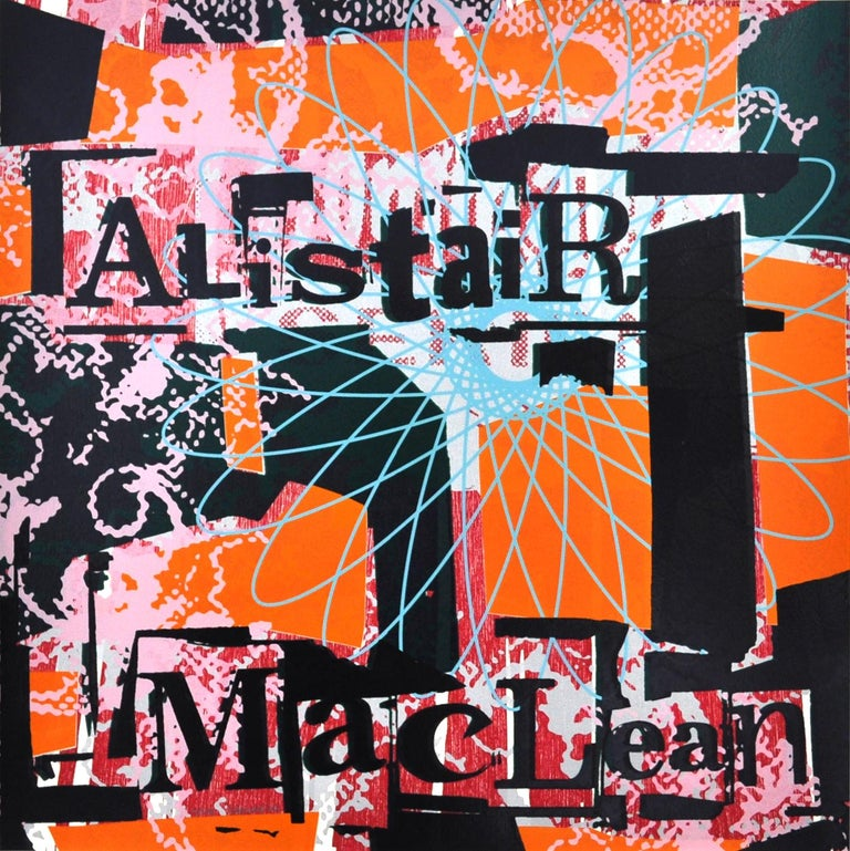"Lars Grenaae Abstract Print - Scandinavian Screen Print and Woodcut ""Alistair MacLean""