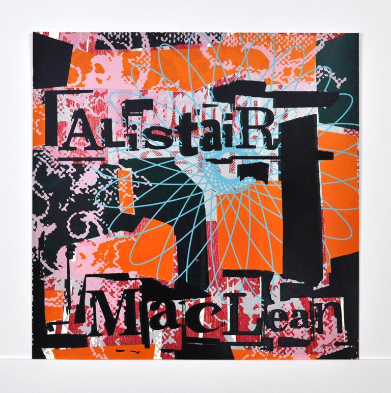 "Scandinavian Screen Print and Woodcut ""Alistair MacLean""