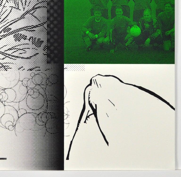 """Boyhood Dream"" Scandinavian Pop Art Screen Print For Sale 2"
