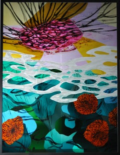 "Scandinavian Stained Glass Window ""Milder Winter"""