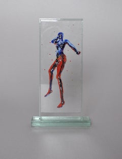 Floating Body, Scandinavian Glass and Paint Sculpture