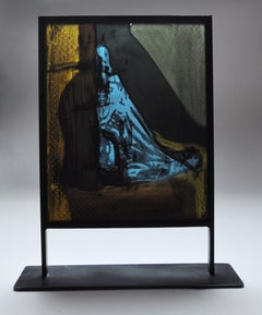 Scandinavian Stained Glass Sculpture by Peter Brandes