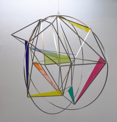 "Contemporary Abstract Geometric Sculpture ""Globe"""