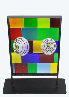 "Contemporary Abstract Geometric Sculpture ""Chameleon"""