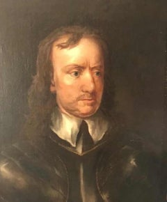 Oil Portrait of Oliver Cromwell ( 1599-1658 )