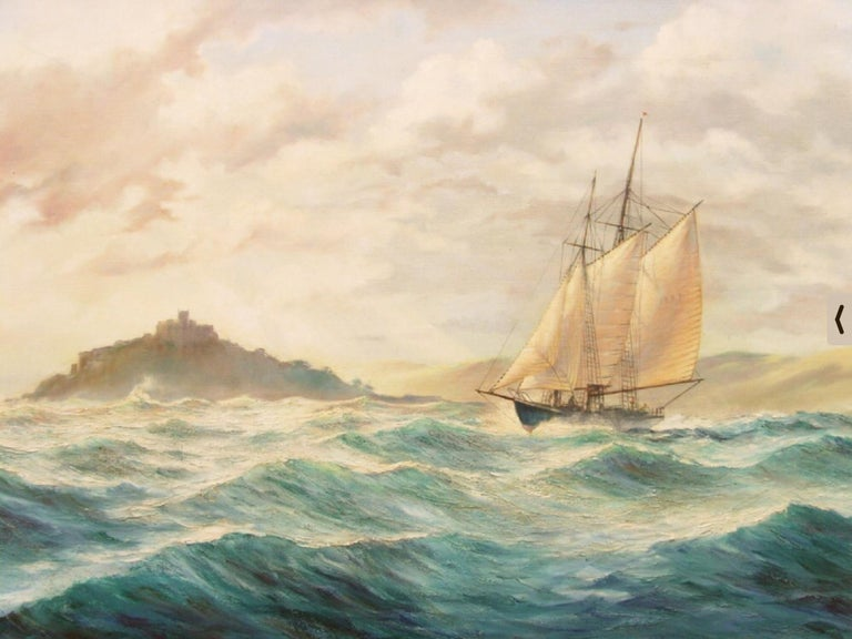 Huge Seascape St.Michaels Mount  - Painting by Kenneth Carter