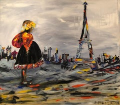 Manaq in Paris by Silvina Pirola Oil on Canvas