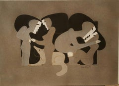 Couples by Miguel Angel Batalla Original Painting Chalk on Paper