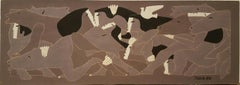 Woman & Horses  Grey by Miguel Angel Batalla Original Painting Tempera on Paper
