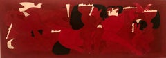 Erotic in Red by Miguel Angel Batalla Original Painting Tempera on Paper