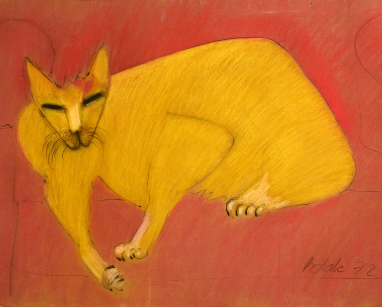 The cat, a feminine seduction which evokes fertility, stability or passionate turmoil. Within the Taoist philosophy, which Batalla recreates in his artistic imagination, Taoism brings discipline and order within what seems a disturbing emotional