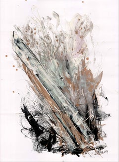 Obelisk Series When the Storm is Over by Silvina Pirola Oil & Charcoal on Paper