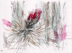 """Landscape Series """"Cardo 2"""" by Silvina Pirola Oil & Charcoal on Paper"""