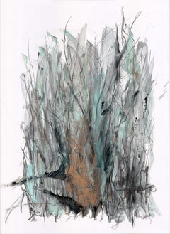 """Countryside Series """"Pastura II"""" by Silvina Pirola Oil & Charcoal on Paper"""