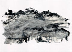 """Landscape Series """"Noche Llena de Arpegios"""" by Silvina Pirola Oil on Paper"""