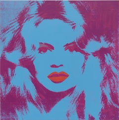 Brigitte Bardot Tapestry by Andy Warhol (Blue/Purple)