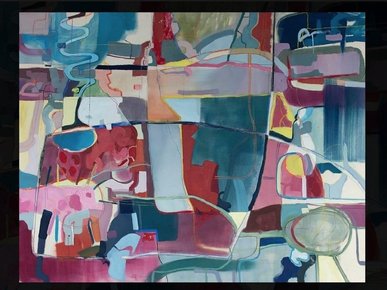 Untitled - XXI century, Young art, Oil abstraction painting, Colourful - Painting by Joanna Cisek