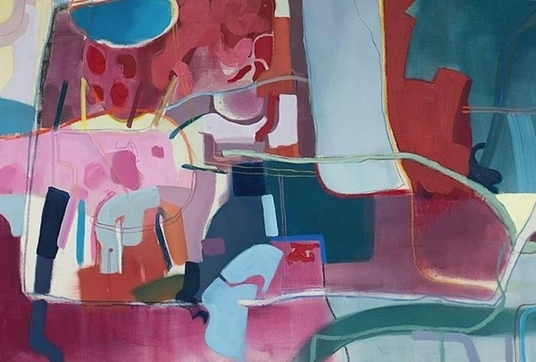 Untitled - XXI century, Young art, Oil abstraction painting, Colourful - Abstract Painting by Joanna Cisek