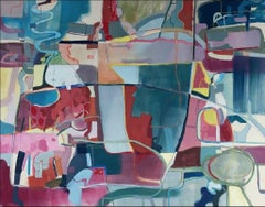 Untitled - XXI century, Young art, Oil abstraction painting, Colourful
